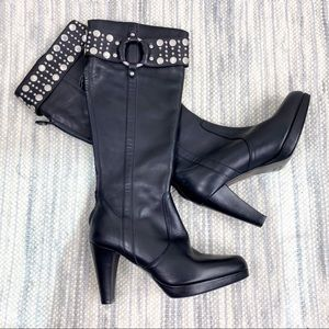 ⭐️WORN ONCE⭐️ Frye Katie Tall Studded Heel Boots